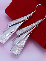 Divine Women's Silver Plate Earrings