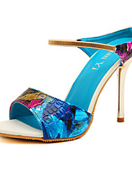 Women's Shoes  Stiletto Heel Heels Sandals Casual Blue/White