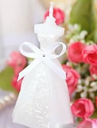 Elegant Boxed Pure White Bridal Bride Shape Candle Wedding Party Favors Decor (Random Color)
