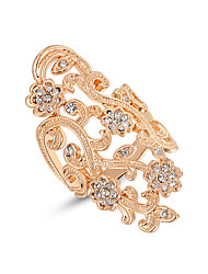 Z&X® Vintage Rose Gold Zircon Plum Statement Rings Wedding/Party/Daily