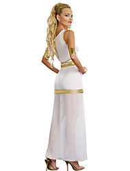 Cosplay Costumes / Party Costume Roman Costumes / Egyptian Costumes Festival/Holiday Halloween Costumes White PatchworkDress / Headwear /