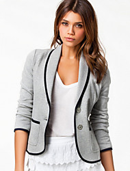 Women's Black/Gray Casual/Work Long Sleeve