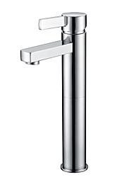 shengbaier chrome contemporaine un trou poignée simple robinet d'évier salle de bains