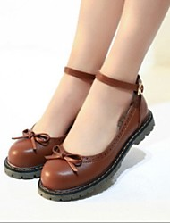 Women's Shoes Flat Heel Comfort Round Toe Preppy Flats Casual