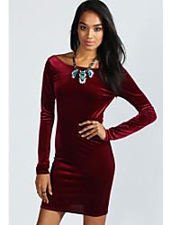 W.W.W   Women's Round Dresses , Others Sexy/Bodycon/Party Long Sleeve