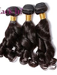 """3 pcs muito 12 """"-30"""" brasileiros de super soltos tramas do cabelo virgem do cabelo humano natural preto tece emaranhado livre"""