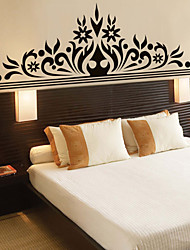 adesivos de parede parede estilo decalques corolla preto lindamente decorado de parede de pvc adesivos