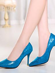 Zapatos de mujer - Tacón Stiletto - Tacones / Puntiagudos - Tacones - Oficina y Trabajo / Vestido - Semicuero - Azul / Rojo / Beige
