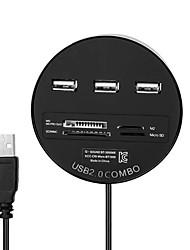cwxuan ™ 3 ports USB 2.0 avec lecteur de carte sd / tf / ms / m2