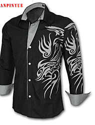 2015 Quality Cotton Fashion Men's Long Sleeve Casual Shirt Size M-4XL 8 Color