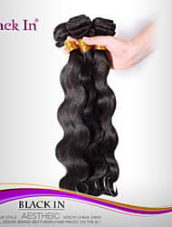 "3 Pcs Lot 12""-30"" Brazilian Body Wave Virgin Hair Wefts Natural Black Remy Human Hair Weave Tangle Free"