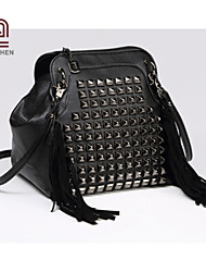 handcee® venta sencilla mujer del diseño caliente de la PU remache bolso crossbody