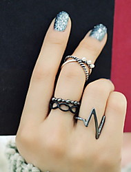 Vintage Alloy Cubic Zirconia Multi Finger Ring