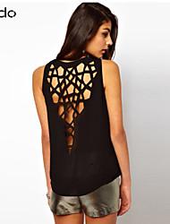 Katoenmixen/Microvezel - Uitgesneden - Vrouwen - T-shirt - Mouwloos