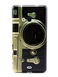 Camera  Pattern TPU Soft Case for Nokia N535