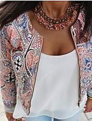 VOV     Women's Coats & Jackets , Chiffon Sexy/Casual/Print VOV