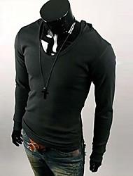 Informell/Business Kapuzenshirt - Langarm - MEN - Pullover mit / ohne Mützen ( Baumwolle/Polyester )
