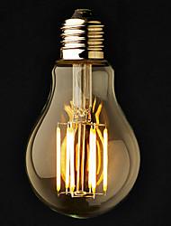 6W E26/E27 Ampoules Globe LED A60(A19) 6 COB 600 lm Blanc Chaud Gradable AC 100-240 AC 110-130 V 3 pièces