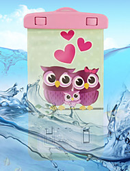 Two Owls Pattern Transparent Waterproof Touchscreen for iPhone 7 6s 6 Plus