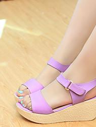 Pumps/Heels ( Caucho , Morado/Almendra Tacón Cuña para Zapatos de mujer