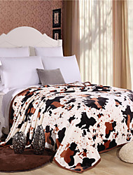 aiwode®Comforter Soft Simple Fashion Pattern Stay Warm Thickening Flannel Blanket