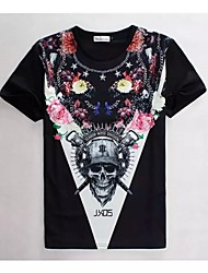Women's High Quality Realistic Thriller Original Particularly Summer Breathable 3D Style T-Shirt——Double Pole Skeleton