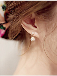 SP Fashion Popular Rhinestone Pearl Earrings