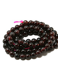 Beadia 38Cm/Str (Approx 88Pcs) Natural Garnet Beads 4.5-4.8mm Round Stone Loose Beads DIY Accessories