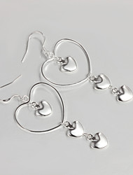 New Products Wedding Dress Heart Design Silver Plated Drop Earrings for Lady Wedding Jewelry for Men And Women