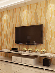 New Rainbow™ Contemporary Wallpaper Stripe 3D Vertical Stripes Wallpaper Wall Covering Non-woven Fabric Wall Art
