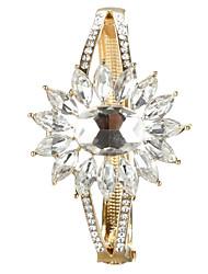 Sjeweler Lady's Latest Style White Crystal Bracelet Bangle