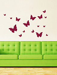 Wall Stickers Wall Decals Style Butterfly Creativity PVC Wall Stickers