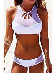 Women's Mesh Panels Bikini Swimsuit