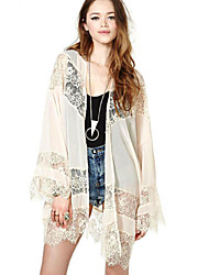 Y.Y.Y  Women's Coats & Jackets , Lace Casual/Party Long Sleeve