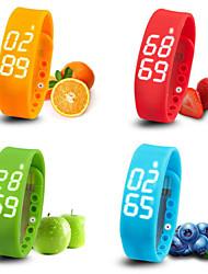 Bluetooth 4.0 Multifunctional Running Pedometer/Calories Intelligent Bracelet Sleep Time Temperature Monitoring