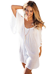 Women Beach Dress Off Shoulder Spaghetti Strap Half Sleeve Bikini Cover Up Sundress