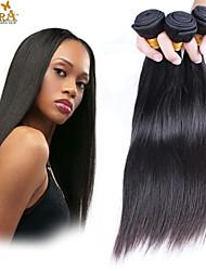 """3pcs / lot 8 """"-26"""" soie péruvien cheveux vierges naturelle de couleur noire droite armure non transformés de cheveux humains"""