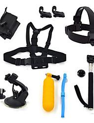 ourspop gp-K18 8-in-1 kit di accessori per GoPro eroe 4 3 + / 3/2/1 telecamera