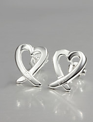 Fashion Kelp Design S925 Silver Plated Stud Earrings Classical Design