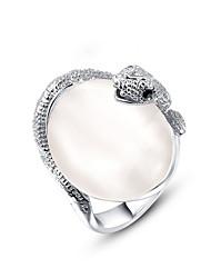 Women's Fashion Snake Imitation Pearl Alloy Ring