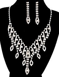 jóias de cobre prata moda longa queda totalmente strass definir 14
