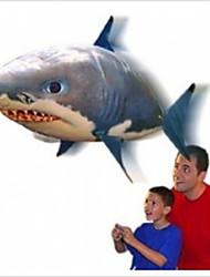 remoto controle / rádio rc balão inflável nadador ar novidade voando tubarão brinquedo