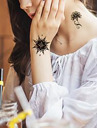 5Pcs Waterproof Luminous Flower Pattern Temporary Body Art Tattoo Sticker