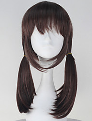 Cosplay Wigs Cosplay Cosplay Brown Medium Anime Cosplay Wigs 50 CM Heat Resistant Fiber Female