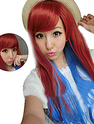 Brown Pink Long Curly Hair Wigs Harajuku Lolita Sex Products Wigs Rainbow Synthetic Wigs Femme Anime Ombre Cosplay Wigs