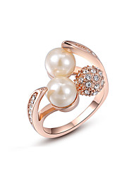 Statement Rings Gold Plated Alloy Birthstones Fashion Golden Jewelry Wedding Party Daily Casual 1pc