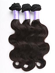 3pcs / lot sin procesar onda del cuerpo virginal del pelo onda del cuerpo brasileño brasileño vender extensión brasileña del pelo