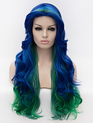 Europe selling multicolor streaked long hair wig cosplay wig party wig Halloween wig