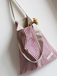 Damen - Beutel - Leinwand - Shopper - Rot