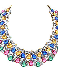 Love New Arrival Fashion Gem Water Drop Crystal Necklace